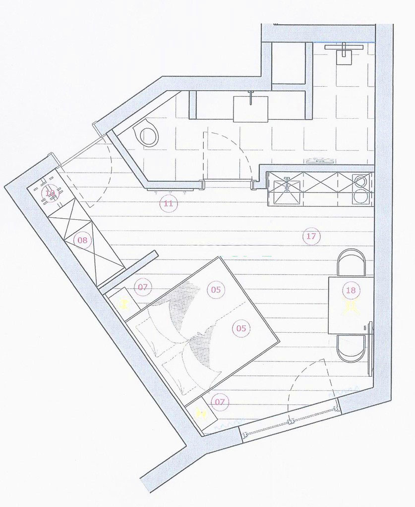 Grundrissplan Appartement TOP 2